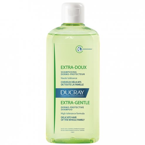 ducray extrasoft and protective shampoo for delicate hair 400ml bottle