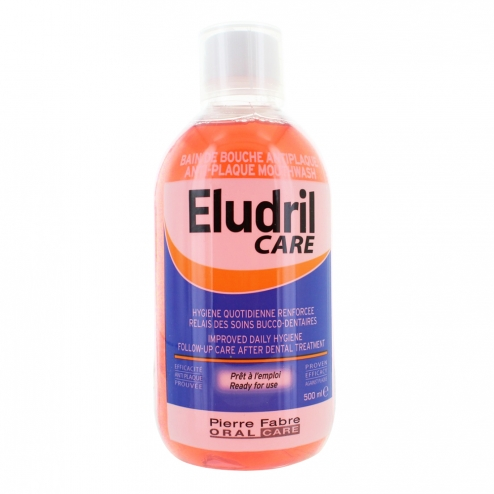 eludril care anti plaque mouthwash 500ml easyparapharmacie. Black Bedroom Furniture Sets. Home Design Ideas