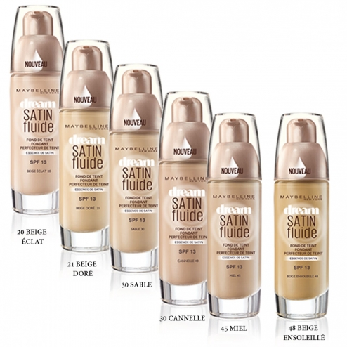 150d3b4cfb57 GEMEY MAYBELLINE DREAM SATIN LIQUID FOUNDATION 30ML. GEMEY MAYBELLINE