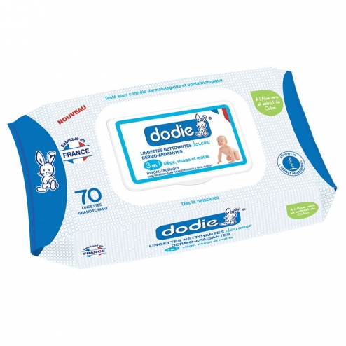 DODIE X 70 CLEANSING SOFT SKIN-SOOTHING WIPES