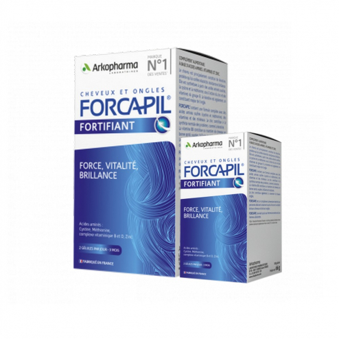 Hair And Nails fortifying formula 180+60 capsules Forcapil Arkopharma