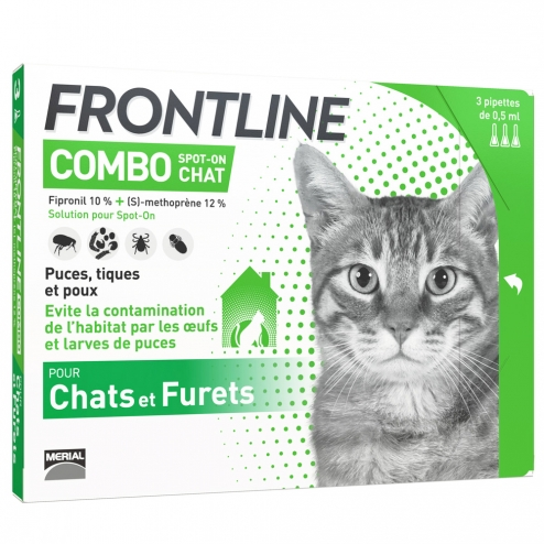 FRONTLINE COMBO CHATS 3 PIPETTES