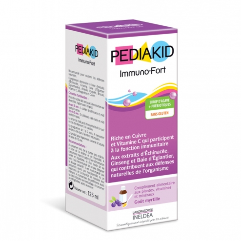 Immuno Fortifying Syrup Blueberry Flavour 125 ml Pediakid