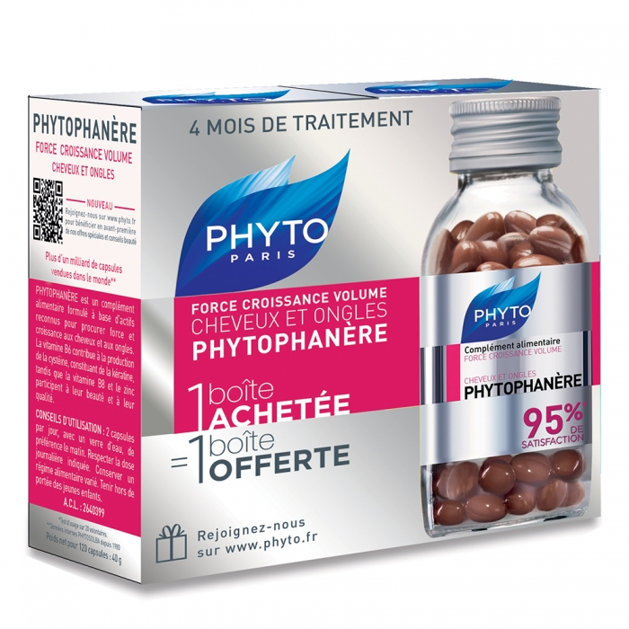 Phyto Phytophanere Hair And Nails 2x120 Capsules Easyparapharmacie