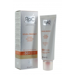 ROC SOLAIRE PROTECT FLUIDE ANTI RIDES LISSANT SPF50+ 50ML