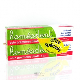 HOMEODENT SOIN 1ERE DENTS 2-6ANS 2x50ML
