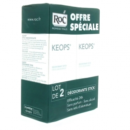 ROC KEOPS DEO STICK TRANSPIRATION MODEREE 2x40ML