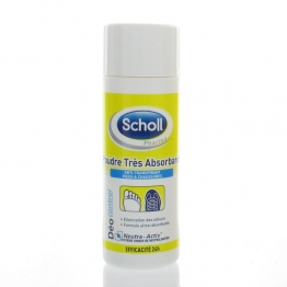 SCHOLL DEO POUDRE TRES ABSORBANTE 75G