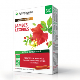 ARKOPHARMA ARKOFLUIDE JAMBES LEGERES 20 AMPOULES