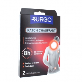 URGO PATCH CHAUFFANT DECONTRACTANT 8H X2