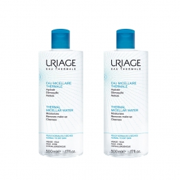 URIAGE EAU MICELLAIRE THERMALE PEAUX NORMALES A SECHES 2x500ML