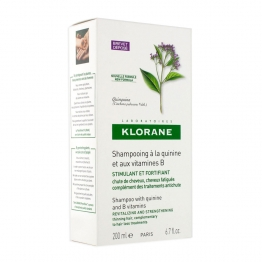 KLORANE   STRENGHTENING  SHAMPOO WITH CINCHONA + VITAMIN B 200 ML BOTTLE