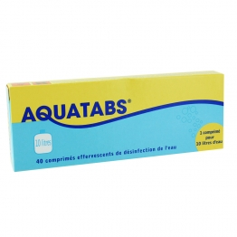 AQUATABS PURIFICATION DE L'EAU 60 COMPRIMES