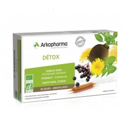 ARKOPHARMA ARKOFLUIDE DETOX 20 AMPOULES