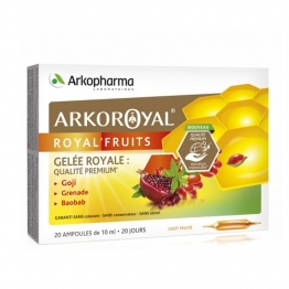 ARKOROYAL ROYAL'FRUITS GELEE ROYALE 20 AMPOULES