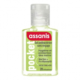 ASSANIS POCKET GEL MAIN 80 ML PARFUM POMME-POIRE