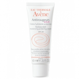 AVENE ANTIROUGEURS JOUR CREME HYDRATANTE PROTECTRICE PEAUX SENSIBLES SECHES SPF20 40ML