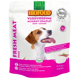 BIOFOOD ALIMENT COMPLET CANARD POUR CHIEN 7X90G