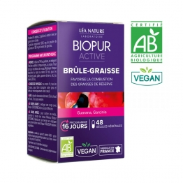 BIOPUR ACTIVE FAT BURNER ORGANIC GUARANA AND GARCINIA X 48 CAPSULES