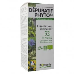 BIOTECHNIE DEPURATIF BIO PHYTO32 ELIMINATION FLACON 300 ML