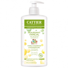 CATTIER GEL MOUSSANT FAMILIAL AU LACTOSERUM 1L