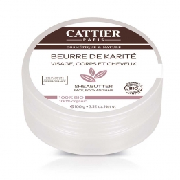 CATTIER BEURRE DE KARITE BIO 100 % NATUREL 100G