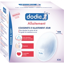 DODIE INDIVIDUAL BREASTFEEDING DAY PADS X30