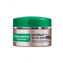DERMATOLINE LIFT EFFECT PLUS ANTI-AGE GLOBAL NUIT PEAUX MATURES 50ML