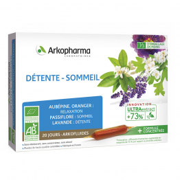ARKOPHARMA ARKOFLUIDE DETENTE-SOMMEIL 20 AMPOULES