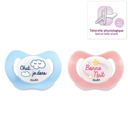DODIE PHOSPHORESCENT PHYSIOLOGICAL SILICONE PACIFIER 0-6 MONTHS