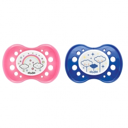 DODIE SILICONE SYMMETRICAL PACIFIER FOR NIGHT FROM 18 MONTHS