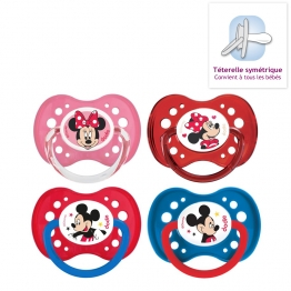 DODIE SUCETTES ANATOMIQUES EN SILICONE COLLECTION MICKEY & MINNIE 18 MOIS ET PLUS X2