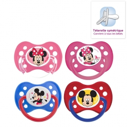 DODIE ANATOMICAL SILICONE PACIFIERS X 2 MICKEY & MINNIE COLLECTION FROM 6 MONTHS