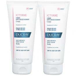 DUCRAY ICTYANE CREME ANTI DESSECHEMENT CORPS PEAUX SECHES A TRES SECHES 2X200ML