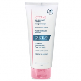 DUCRAY ICTYANE ULTRA RICH CLEANSING GEL FACE AND BODY NORMAL TO DRY SKINS 200ML