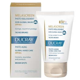 DUCRAY MELASCREEN PHOTO-VIEILLISSMENT SOIN GLOBAL MAINS SPF50+ 50ML