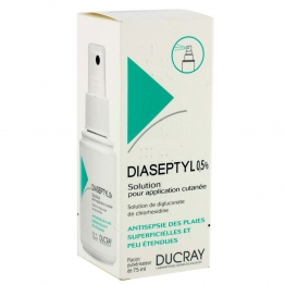 DUCRAY DIASEPTYL 0,5% SOLUTION POUR APPLICATION CUTANEE 75ML