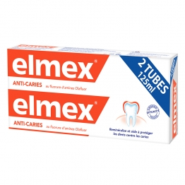 ELMEX DENTIFRICE ANTI CARIES 2X125ML