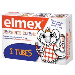 ELMEX DENTIFRICE ENFANT PACK DOUBLE 2 X 50 ML