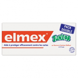 ELMEX DENTIFRICE JUNIOR 7/12 ANS 2x75 ML