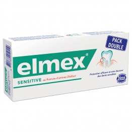 ELMEX SENSITIVE DENTIFRICE 2 X 75ML+ 1 BROSSE A DENTS OFFERTE