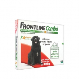 FRONTLINE COMBO SPOT-ON XL CHIEN + 40KG 4 PIPETTES