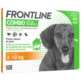 FRONTLINE COMBO SPOT-ON S CHIEN 2-10KG 6 PIPETTES