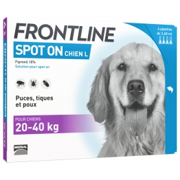 Spot-on Dog Size L4 20- 4 Pipettes De 40kg Frontline