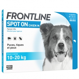 FRONTLINE SPOT-ON CHIEN 10-20 KG 4 PIPETTES