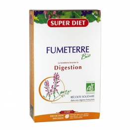 SUPERDIET FUMETERRE BIO DIGESTION 20 AMPOULES 15ML