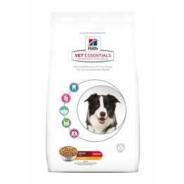 HILLS VETESSENTIALS CHIEN ADULTE CROQUETTES MEDIUM POULET 10KG
