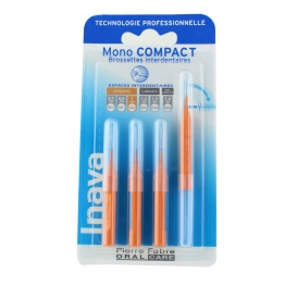INAVA BROSSETTES INTERDENTAIRES MONO COMPACT ORANGE 1MM X4