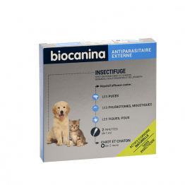 INSECTIFUGE CHIOT ET CHATON X2 PIPETTE BIOCANINA