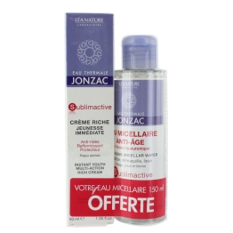 JONZAC CREME RICHE SUBLIMACTIVE 40ML+ EAU MICELLAIRE SUBLIMACTIVE 150ML OFFERTE